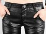 2013秋冬韩版大码紧身 女PU皮裤弹力牛仔裤小脚铅笔裤女长裤