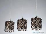 欧式灯具 客厅亚克力灯饰3头黑白色吊灯