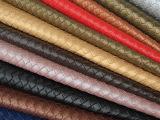 厂家直销人造革箱包 化妆包手提袋 装饰皮革面料编织纹