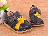 小螺号真皮软底宝宝鞋男宝婴儿叫叫鞋学步鞋0-2岁一件代发