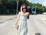 韩国SZ进口代购服装批发夏装新款沙滩长裙