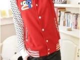 厂家批发时尚爆款大码卫衣秋季外套棒球服女韩版潮流棒球卫衣