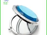 韩国人气 水晶玻璃化妆小镜子 高档金属化妆镜批发 折叠化妆镜子