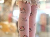 春夏款儿童韩版碎花雷丝花边直板袜 女童无根中筒袜 宝宝袜子批发