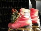 旱冰场物品处理绝对便宜,四轮双排旱冰鞋,...