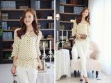 2014春季女装新款雪纺衫原创中袖韩版春夏装小衫雪纺衫一件代发潮