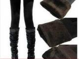 韩国新款秋冬季加厚卡拉珍珠绒无缝弹力大码高腰打底裤 天猫货源