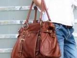 女士时尚PU皮单肩包手提包金属包0189棕色百搭女包