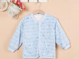 婴幼儿棉衣保暖套装2015冬季新款加厚棉衣新生儿开胸纽扣棉袄批发