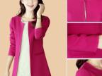爆款新款韩版中长款小西装修身显瘦中长款西装女装 中长款小外套