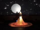 北京市酒店婚宴5D婚纱宴会厅餐厅婚纱配饰服饰项目装饰光影婚纱