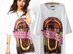 2014春夏装新款欧美风asos同款游戏机图案印花宽松短袖大版T恤女