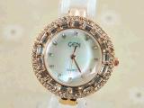 供应外贸热销大表盘高档陶瓷手表 女士休闲石英表 批发 watches