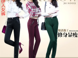 中年女裤加绒打底裤 品牌女式加绒休闲裤子女裤直筒长裤女