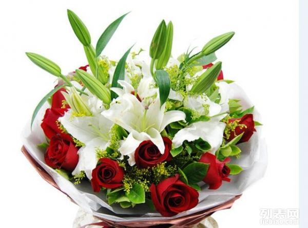 阳光鲜花红玫瑰花束