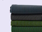 直销彩色条纹罗马布 6%氨纶时尚提花工装针织布料 家纺床品面料