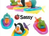 美国原装游水玩具拉线会游水发条戏水玩具代