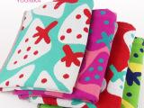 高阳纯棉毛巾厂家直销 高档品牌礼品福利套巾 草莓花形毛巾