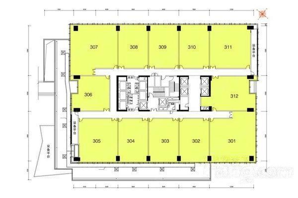 保利大都汇写字楼平面图 番禺地标式甲级写字楼 坐拥五大商业综