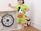 新款童装纯棉短袖套装可爱卡通图案潮童夏装哈密厂家服装直销批发