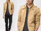 2015新款韩版男装上衣男夹克男休闲夹克潮男士修身夹克外套批发