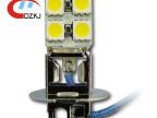 长期供应 优质LED汽车灯H3雾灯 8SMD汽车LED桥头大功率雾灯价格