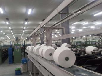 大化环锭纺涤纶纱21支-永得利大化纯涤纱