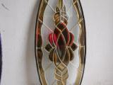 供应订做17-28毫米厚双面钢化铜条镶嵌工艺玻璃