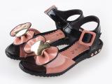 2014爆款 女童凉鞋  tpr耐磨 包头凉鞋 漆皮 新品特价