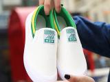 学生帆布鞋女一脚蹬夏季套脚懒人鞋女休闲单鞋平底布鞋