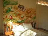 画墙画 装修背景手绘墙画 饭店手绘墙画 电视墙绘 太原墙绘