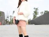 欧洲站女鞋 2013新品真皮马丁靴粗跟绒