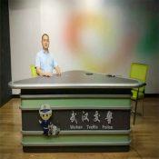 耀诺加工定做新闻演播桌 演播室播音桌 广播桌 访谈桌