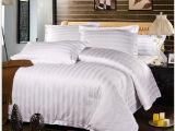 宾馆客房布草 星级酒店床上用品白色纯棉