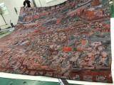 北京舞台幕布喷印,舞台背景针织布热转印,舞蹈道具幕帐背景图