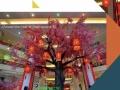 商场美陈中庭DP吊饰雕塑仿真植物导视系统节日装饰