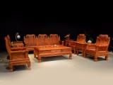 缅甸花梨木沙发六件套