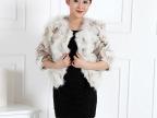 2015冬季新款纯色短款皮草奢华七分袖外套韩版潮流大气狐狸毛女装