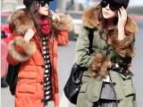 羽绒服批发2013冬季新款大毛领中长款韩版羽绒服 女款 厂家直销