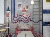 合肥甜品店装修设计,小空间甜品店这样设计,个性又有格调