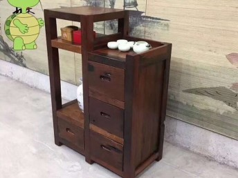 老船木会客茶台原生态实木茶台桌椅禅意茶台会所会客茶桌