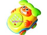 儿童早教益智电话带音乐 奇趣音乐电话车琴 拉线电话音乐玩具