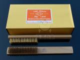 日本OK全铜丝 木柄铜丝刷 金属表面清洁刷 除漆除锈刷子 高档板