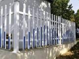 pvc小区栅栏 pvc社区塑钢护栏 pvc别墅围墙护栏