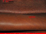 手工DIY皮料真皮皮革面料进口头层疯马牛皮棕色油皮整张批发2.0