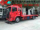 西安市厂家直销中型挖掘机平板运输车 解放小三轴挖掘机平板车0年0万公里面议