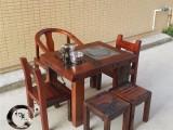 厂家促销老船木家具实木阳台小茶桌功夫茶台博古架茶水柜