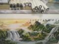 风水山水画。价格400已装裱