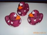 【优质】供应PVC搪胶鸭子 搪胶公仔 塑胶玩具 浮水玩具 移印加
