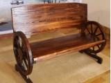 供应 车轮长椅中式古典功夫茶台进口实木碳化办公桌椅凳